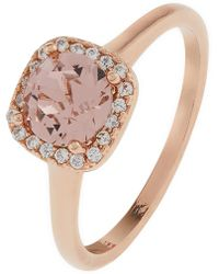 Accessorize - Rose Gold Halo Ring With Swarovski® Crystals - Lyst