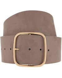 Accessorize - Square Buckle Wide Waist Belt - Lyst