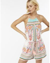 Accessorize - Balinese Print Playsuit - Lyst