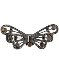 Accessorize - Jet Butterfly Brooch - Lyst