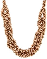 Accessorize - Linked Beaded Round Necklace - Lyst