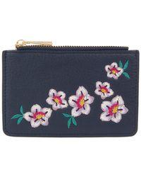 Accessorize - Celeste Embroidered Shoreditch Card Holder - Lyst
