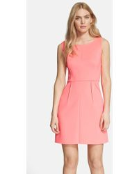 Milly Seamed Shift Dress - Lyst
