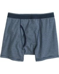 J.Crew Heather Graphite Stripe Knit Boxer Briefs - Lyst