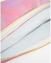 American Apparel - Iridescent Leather Clutch - Lyst