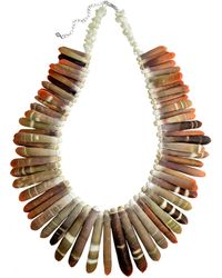 Lord & Taylor - Shell, Mother-Of-Pearl And Sterling Silver Statement Necklace - Lyst