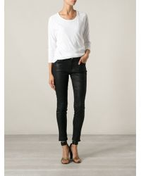 James Perse Raglan Sleeve Top - Lyst