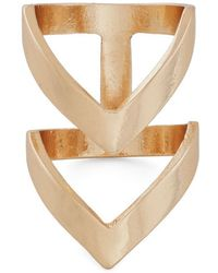 Zad Fashion Inc. | Put A Ring Chevron It Ring in Gold | Lyst