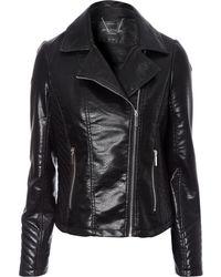 Jane Norman Quilted Biker Jacket - Lyst