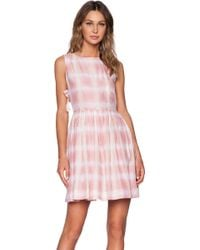 Marc By Marc Jacobs Blurred Gingham Dress - Lyst