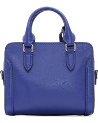 Alexander McQueen Ultramarine Mini Padlock Bag - Lyst