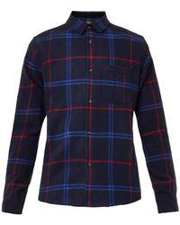 A.P.C. Hunter Tartanplaid Flannel Shirt - Lyst