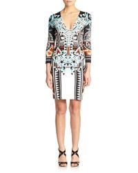 Just Cavalli Printed Bodycon Dress - Lyst