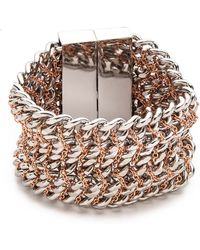Bex Rox - Alabama Chain On Chain Bracelet Silver - Lyst