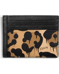 Image result for Coach card case in Wild Beast