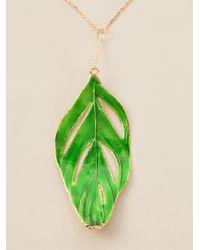 Aurelie Bidermann Swan Feather Necklace - Lyst