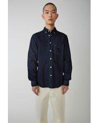Acne Studios - Isherwood Den Indigo Blue Classic Fit Shirt - Lyst