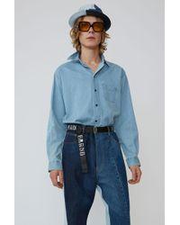 Acne Studios - Long-sleeved Shirt mid Blue - Lyst