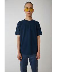 Acne Studios - Crewneck T-shirt mineral Blue - Lyst