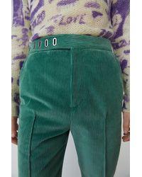 Acne Studios Pantalon en velours - Vert