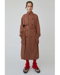Acne Studios - Long Trench Coat dusty Pink - Lyst