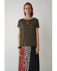 Acne Studios - Boxy Fit T-shirt dark Khaki - Lyst