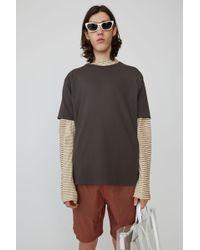 Acne Studios - Niagara Tech Steel Grey Crewneck T-shirt - Lyst