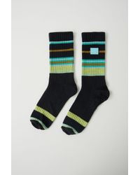 Acne Studios - Fa-ux-accs000008 Navy/green Striped Socks - Lyst