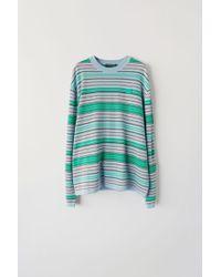 Acne Studios - Fa-ux-knit000006 Blue/brown/green Striped Sweater - Lyst