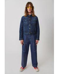 Acne Studios - Oversized Denim Jacket dark Blue - Lyst