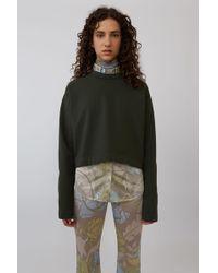 Acne Studios - Cropped Sweatshirt dark Green - Lyst