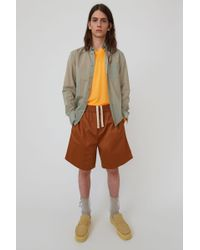 Acne Studios - Drawstring Shorts caramel Brown - Lyst
