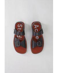 Acne Studios - Leather Sandals black/brown - Lyst
