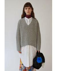 Acne Studios - Deborah L-wool pale Grey Melange - Lyst