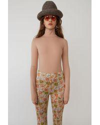 Acne Studios - Fn-wn-tshi000013 Blush Beige Fitted Bodysuit - Lyst