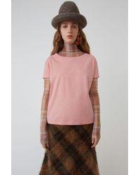 Acne Studios - Boxy Fit T-shirt pink Melange - Lyst