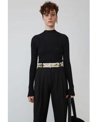Acne Studios - Slim Fit Sweater black - Lyst
