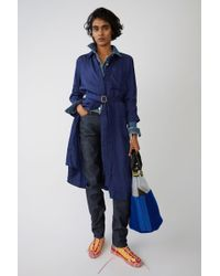 Acne Studios - Belted Shirt Dress french Blue - Lyst