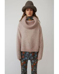 Acne Studios - Cowl Neck Jumper powder Pink - Lyst