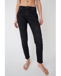 Acne Studios - Melk Used Blk Used Black Slim Tapered Fit Jeans - Lyst