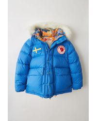 Acne Studios - Expedition Print M A/f Blue Reversible Down Jacket - Lyst