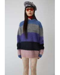 Acne Studios - Albah Mohair Multi Mix Stripe Relaxed Fit Jumper - Lyst