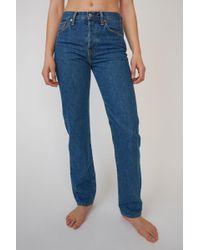 Acne Studios Classic Fit Jeans dark Blue