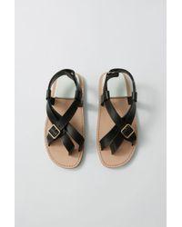 0d77ecfad114 Acne Studios - Fn-wn-shoe000117 Black white Buckle Sandals - Lyst