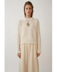 Acne Studios - Fitted Sweater off White - Lyst
