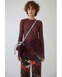 Acne Studios - Sheer Mini Dress aubergine - Lyst