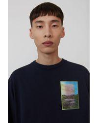 Acne Studios - T-shirt imprimé à manches longues - Lyst