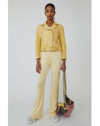 Acne Studios - Motorcycle Jacket vanilla Yellow - Lyst