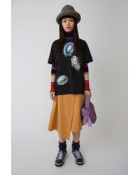 Acne Studios - A-line Wrap Skirt sunflower Yellow - Lyst