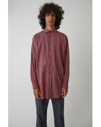 Acne Studios - Maxi Fit Shirt red Check - Lyst